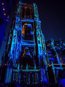 Cathédrale de Strasbourg de nuit