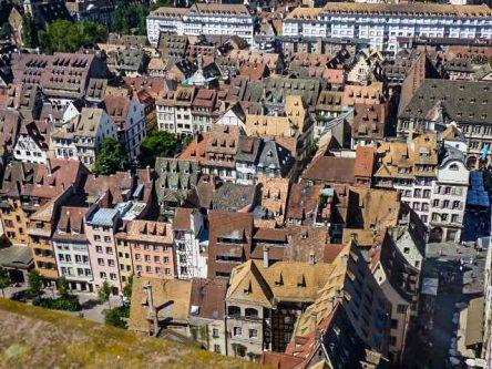 Vue du haut de la Cathédrale de Strasbourg