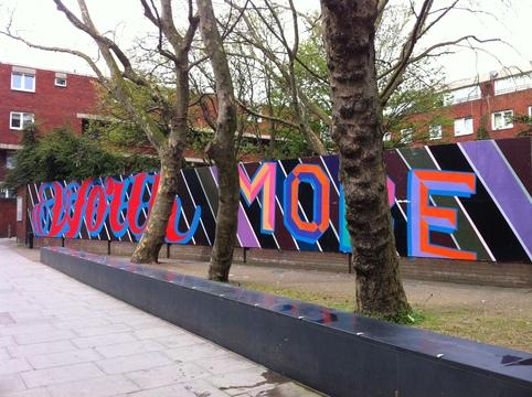 Peinture de Ben Eine dans les rues de Londres