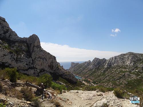 Quelle vue d'en haut de Sormiou!