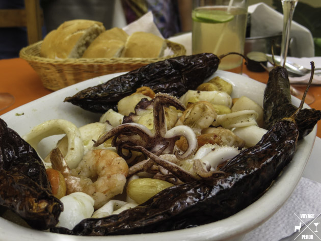 Fruits de mer au Pérou