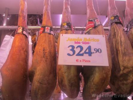 Le bon jambon ca coûte cher!
