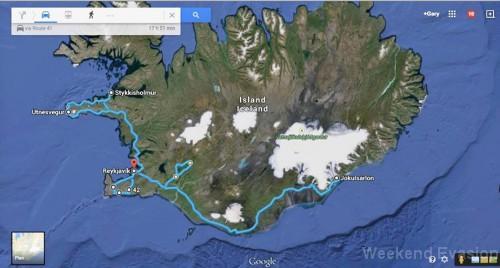 Un itinéraire de près de 2000 kilomètres