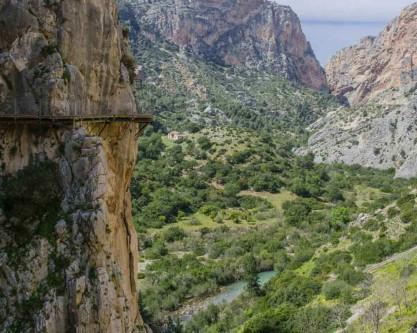 Vue sur le Caminito del Rey