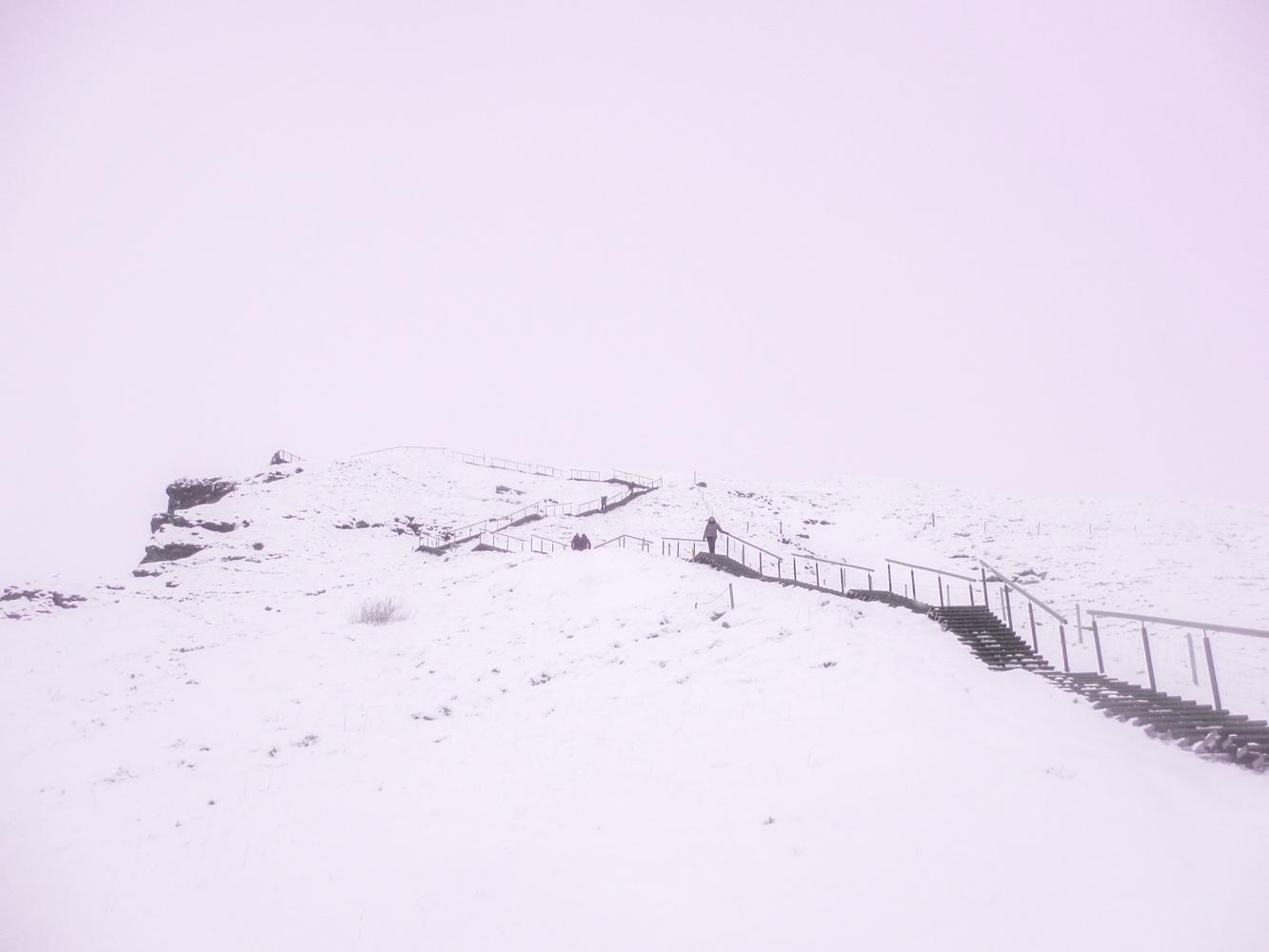 Escalier skogafoss