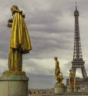 La Tour-Eiffel depuis le haut du Trocadéro