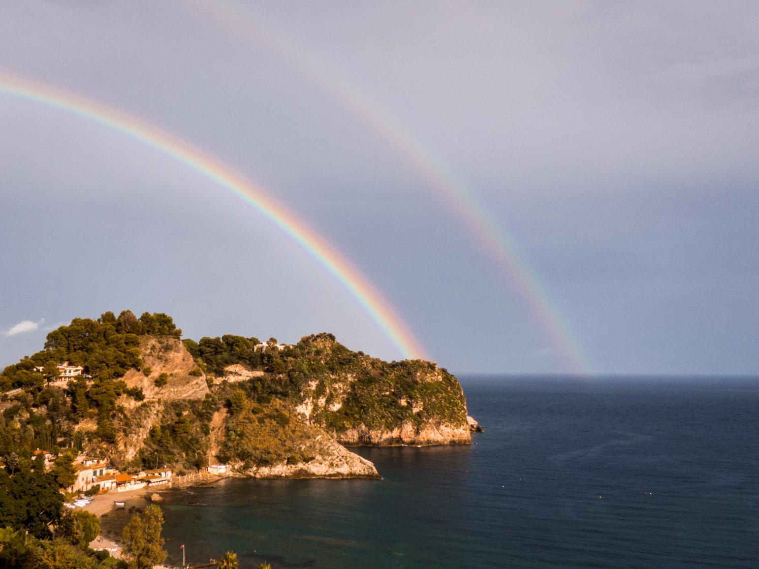 Double Arc en ciel Sicile