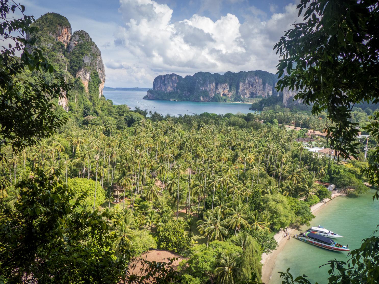Vue depuis Viewpoint à Krabi