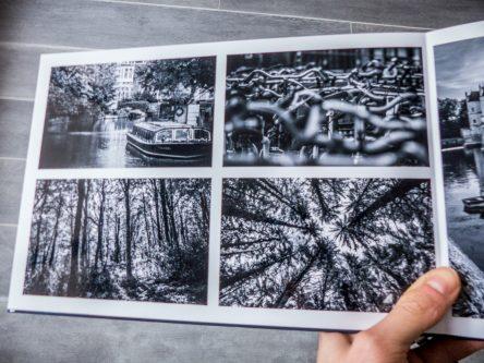Livre photo noir et blanc