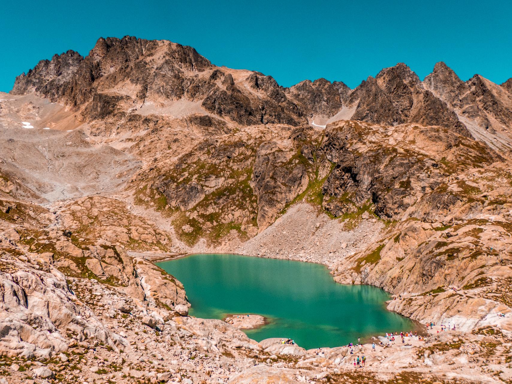 Le Lac Blanc vue en hauteur