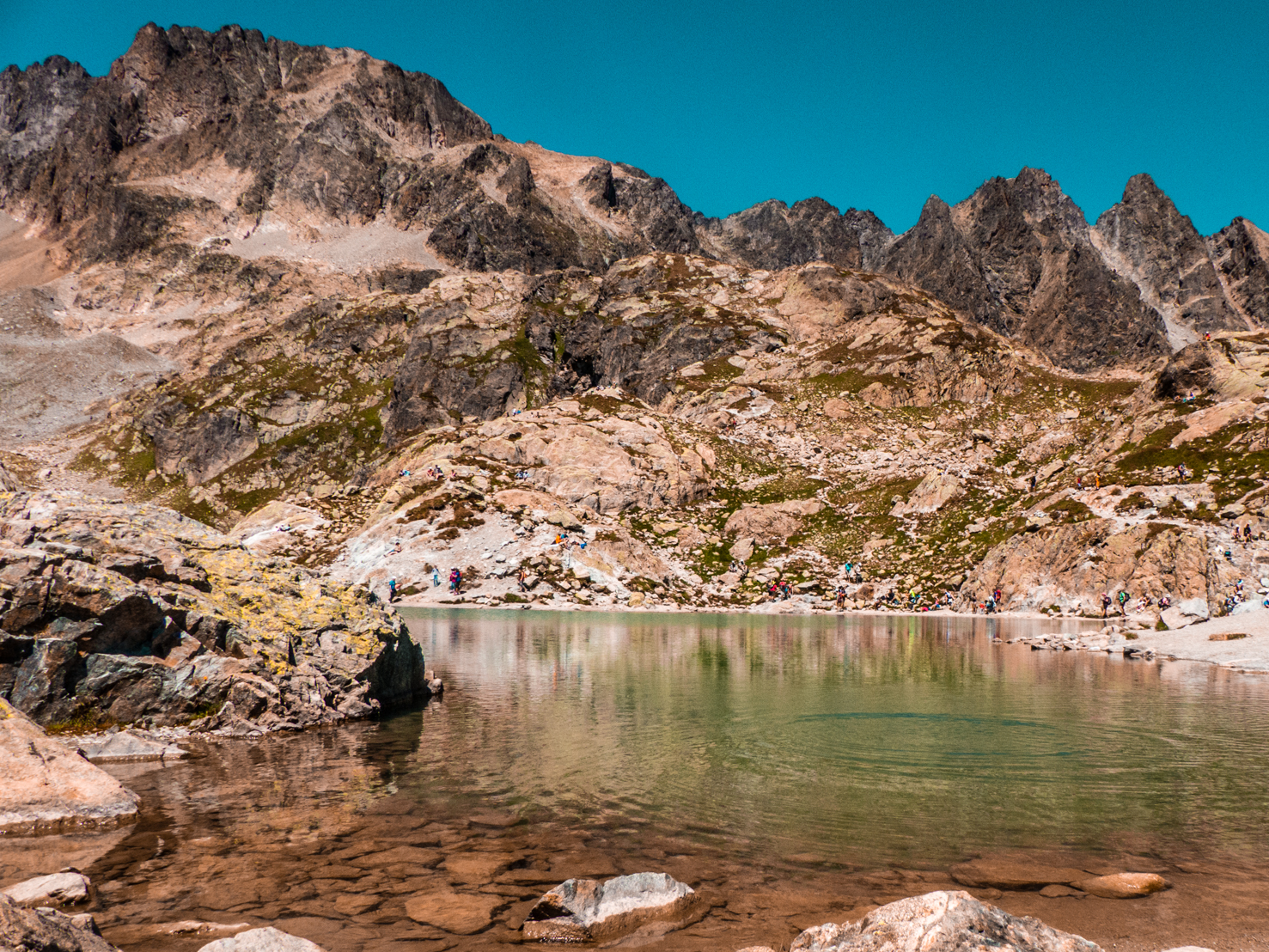 Le Lac Blanc vue d'en bas