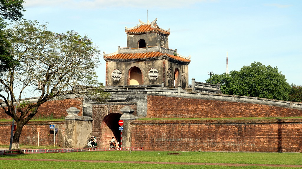 La célèbre citadelle de Hué