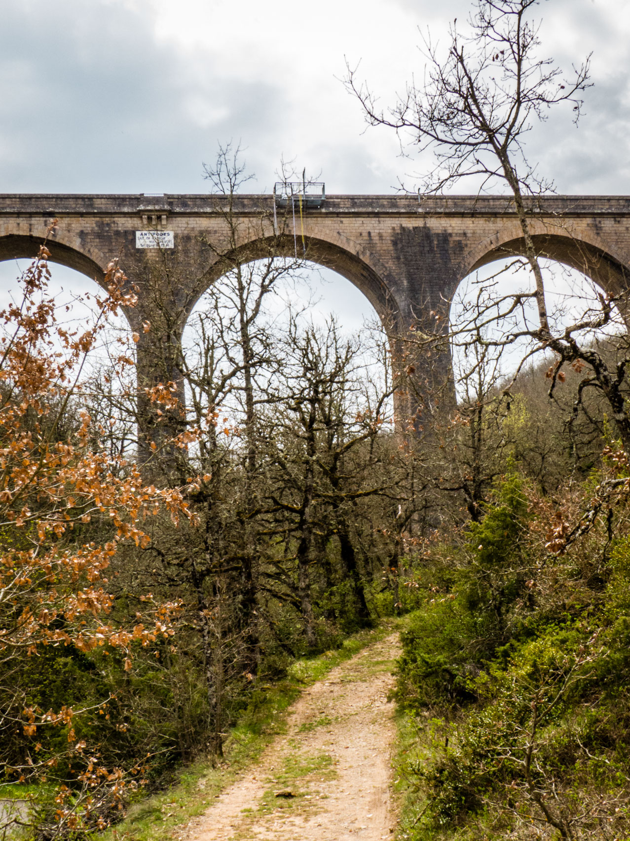 Viaduc de Sainte Eulalie vu du bas