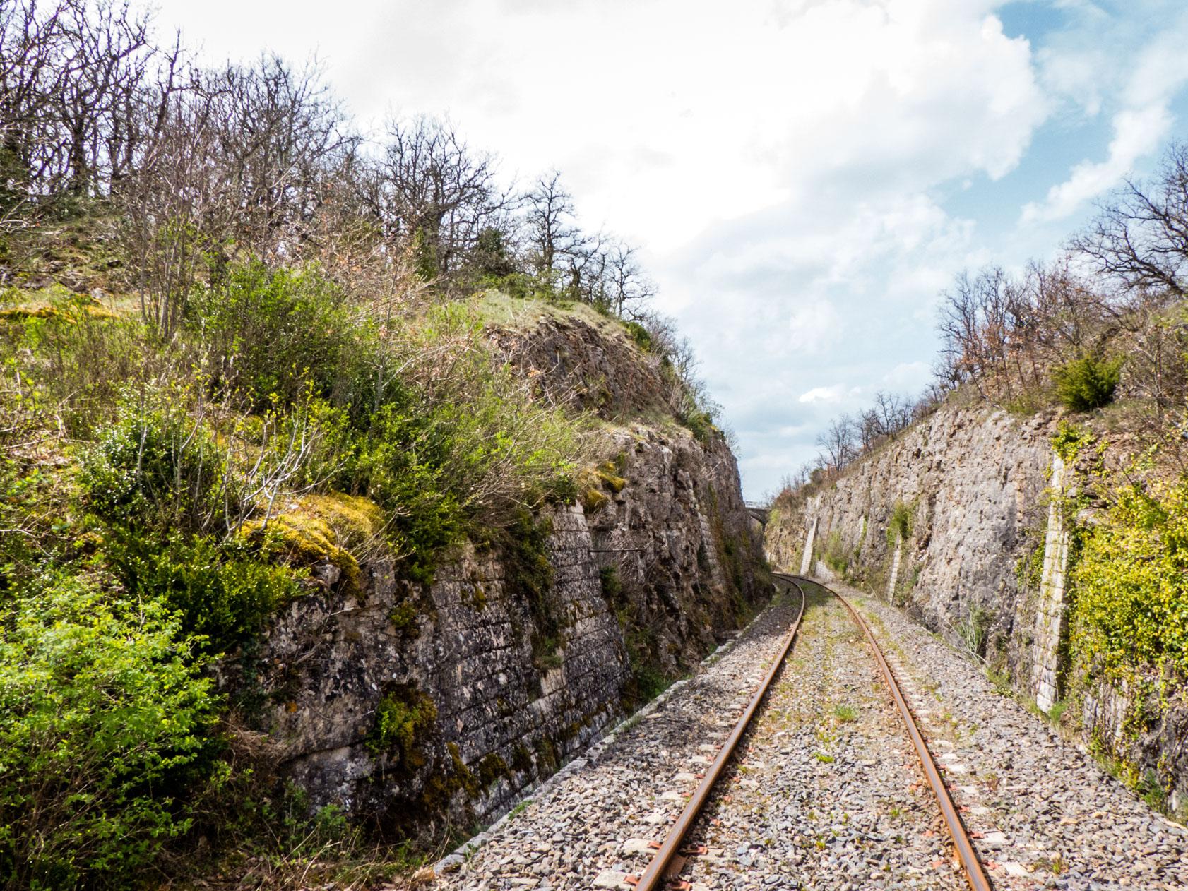 Viaduc de Sainte Eulalie voie ferrée