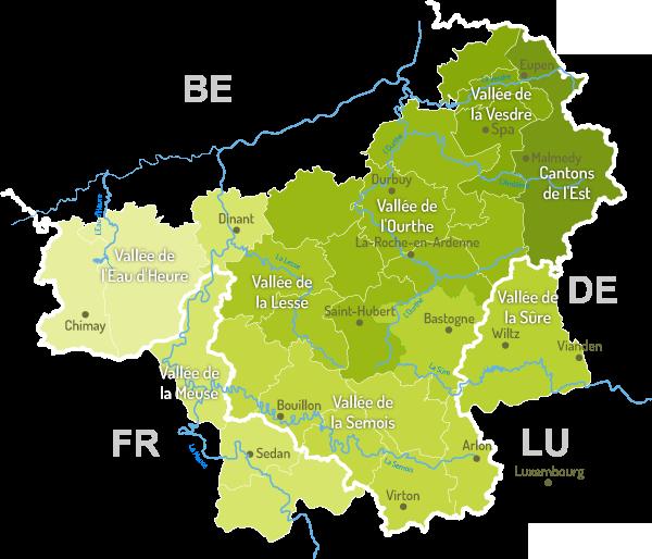 carte des ardennes belges