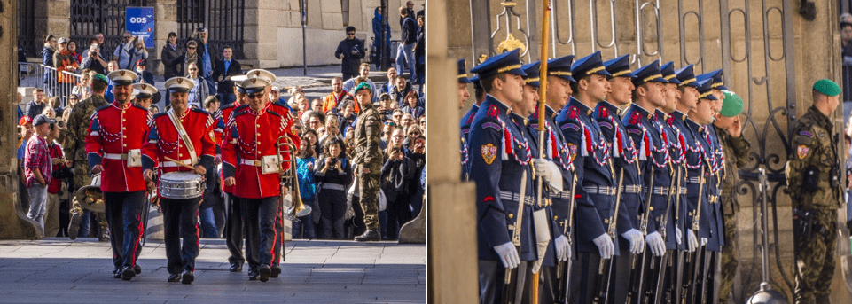Relève de la garde à Prague