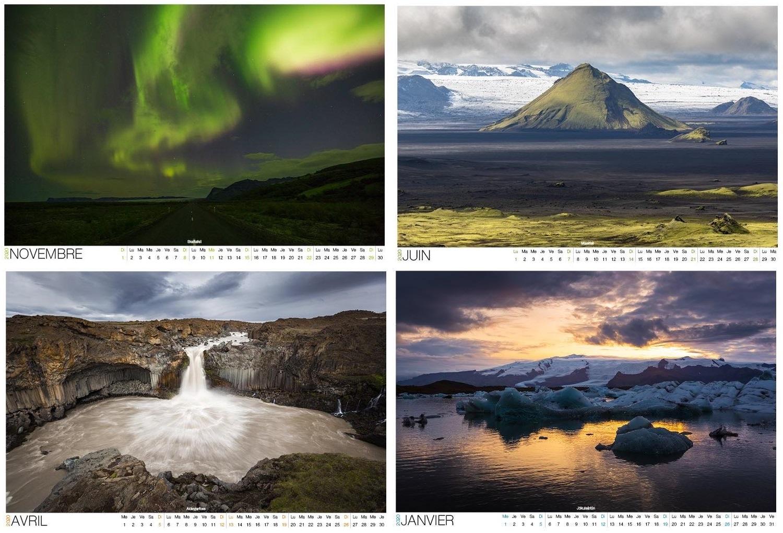 calendrier Islande